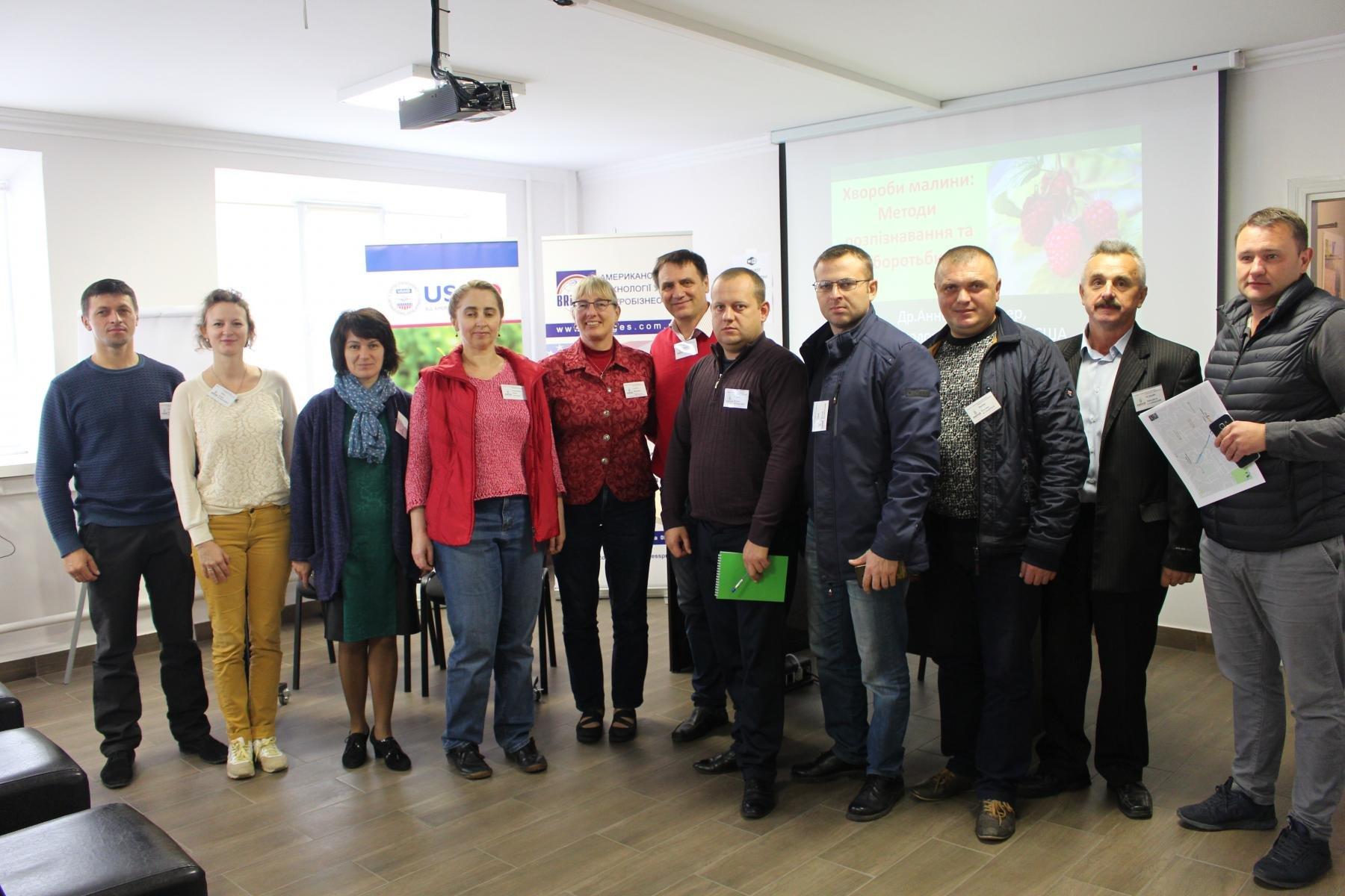 Учасники семінару організованого за підтримки Мрії Агрохолдинг