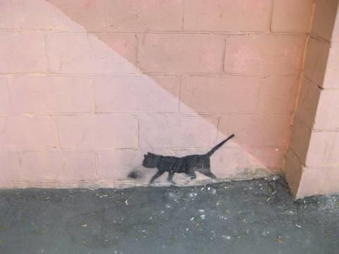 """""""Наскальное"""" творчество-1.Эта черная кошка никогда не перебежит вам дорогу"""