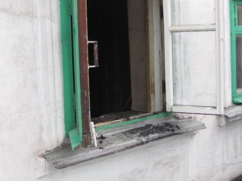 Фотографии пожара на ул. Коминтернова Жовтневого района