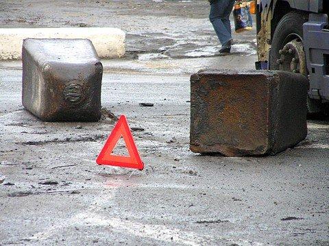 У ТФД грузовик потерял металлические слитки (Фото)., фото-1