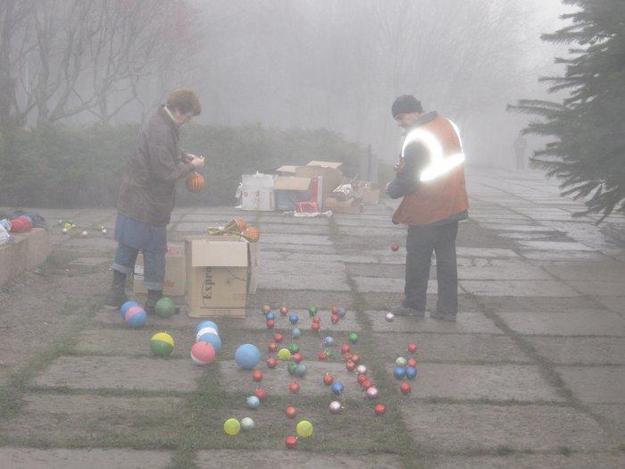 Елки в тумане. Мариупольские чиновники готовят город к Новому году (ФОТО), фото-5