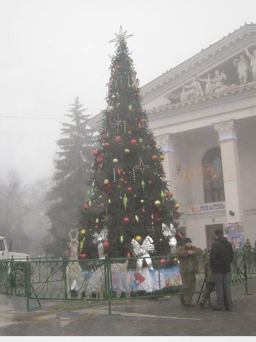 Елки в тумане. Мариупольские чиновники готовят город к Новому году (ФОТО), фото-9