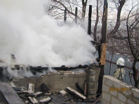пожар по  улице Семенишина
