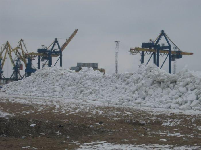 Азовское море покрылось ледяными торосами (ФОТО), фото-2
