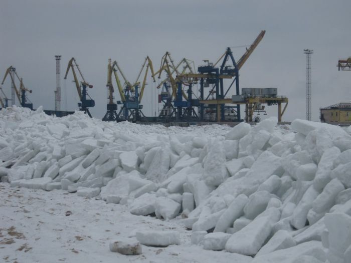 Азовское море покрылось ледяными торосами (ФОТО), фото-5
