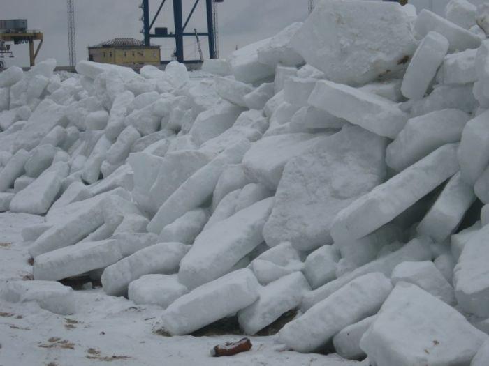 Азовское море покрылось ледяными торосами (ФОТО), фото-6