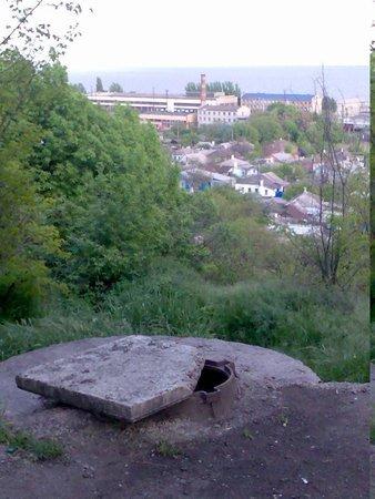 Люк под памятником Семенишина в Городском саду