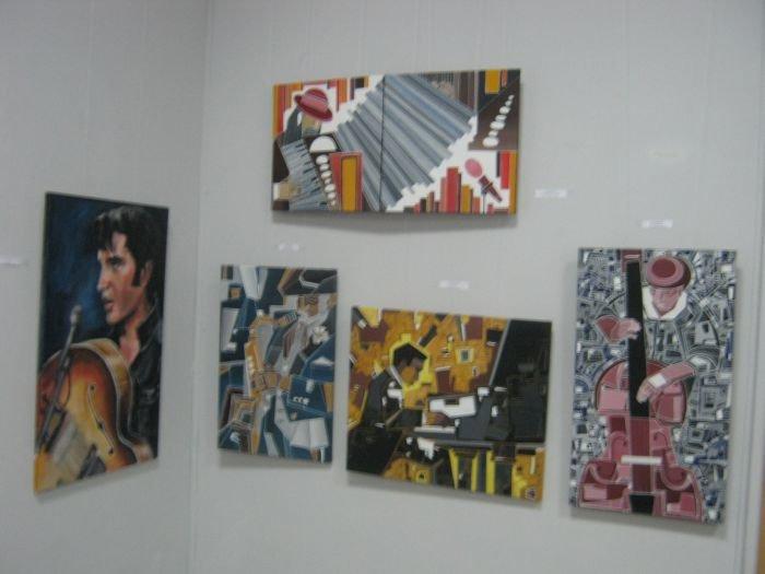Киевляне предложили мариупольцам «услышать» джаз в картинах современных художников (ФОТО), фото-9