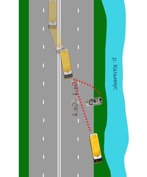 Жуткое ДТП на ул. Набережной в Мариуполе. Автобус столкнулся с легковушкой. Водитель авто погиб на месте (Дополнено. ФОТО), фото-1