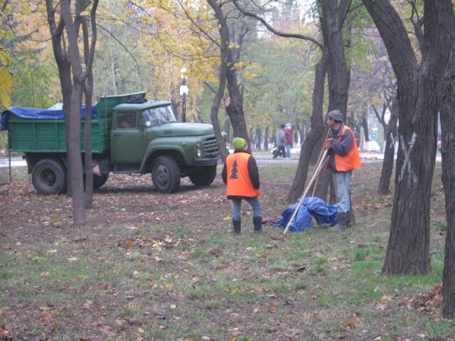 Мариупольцы  массово вышли на борьбу с опавшей листвой (ФОТО), фото-5