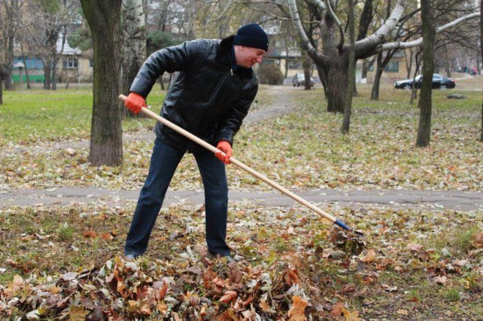 Мариупольцы очистили от листвы парк Победы (ФОТО), фото-3