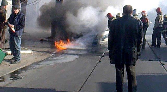 На ходу загорелась иномарка. Пострадавших нет (ФОТО), фото-13