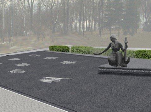 Проект памятника, предложенный Валентиной Милютиной