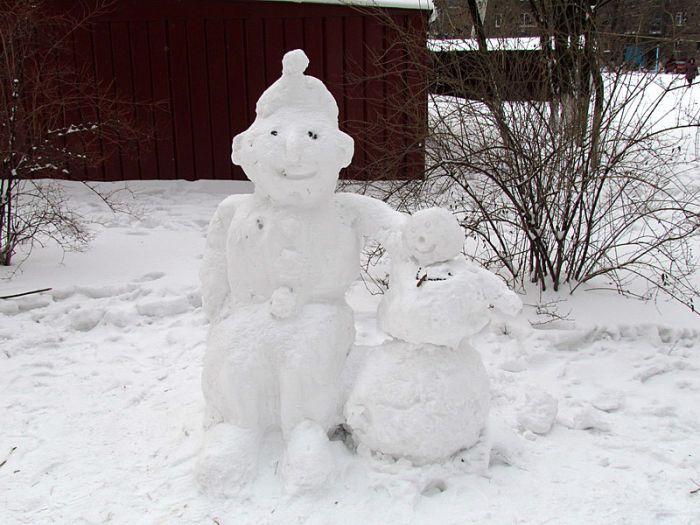 снеговик колин