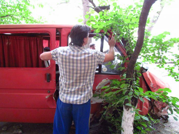 Цирк приехал. В Мариуполе пьяные «клоуны» протаранили маршрутку и застряли между деревьями (ФОТО), фото-11
