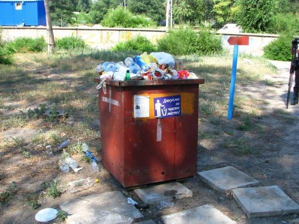 Запорожский мэр отругал хозяина кафе на Центральном пляже за полный мусорный бак (ФОТО), фото-1