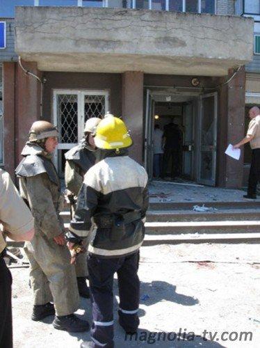 В Мелитополе, в Ощадбанке,  прогремела серия взрывов. 22 пострадавших (ФОТО), фото-1