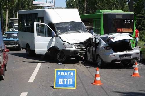 Масштабное ДТП в Донецке: столкнулись 4 автомобиля (ФОТО), фото-1