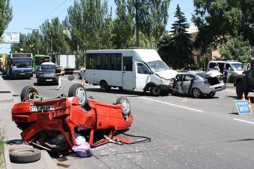 Масштабное ДТП в Донецке: столкнулись 4 автомобиля (ФОТО), фото-3