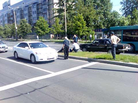 На улице Артема в Донецке таксист сбил пешехода (ФОТО), фото-1