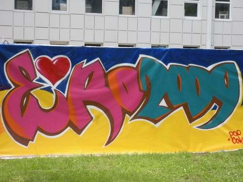 Дончане разрисовали город к Евро-2009 (ФОТО), фото-2