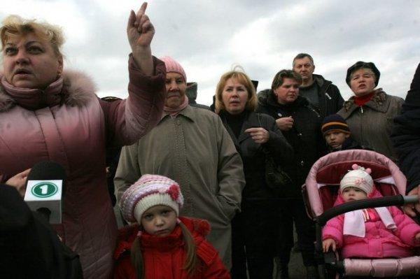 Метростроевцы Донецка провели акцию протеста (ФОТО), фото-1