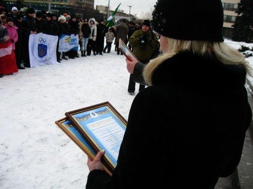 Запорожье отметило начало зимней Олимпиады (ФОТО), фото-2