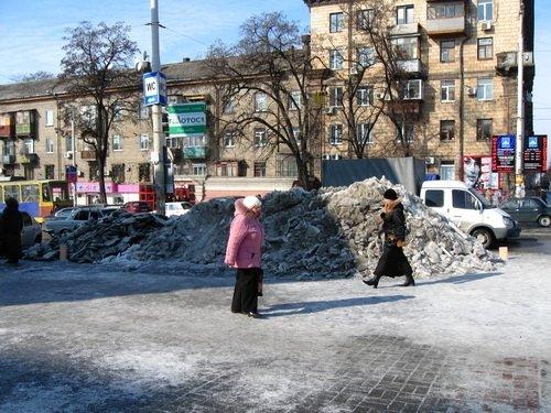 Запорожье в ледовых буграх и полях (ФОТО), фото-4