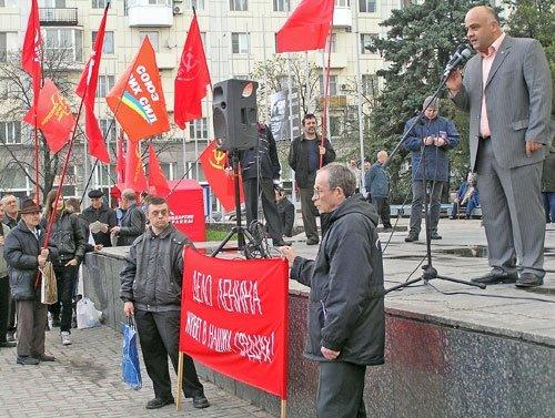 Ленина в день его 140-летия в Луганске сравнили с Христом, поставили в один ряд с Путиным (фото), фото-2