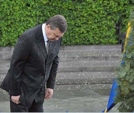 Венок, упавший на Януковича, выставлен на аукционе, фото-2