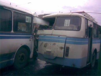 В Горловке столкнулось три автобуса (ФОТО), фото-2