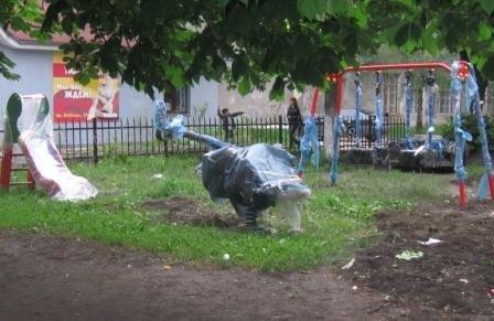 На пл. Победы появилась детская площадка, фото-1
