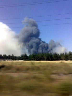 Пожар в лесничествах Луганщины тушат при помощи вертолета (фото), фото-1