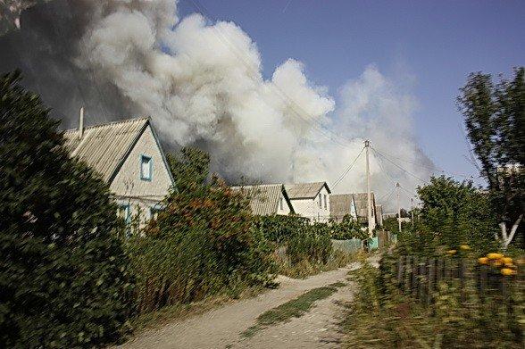 Продолжается тушение пожара в Луганских лесоохотничьих хозяйствах. Жертв нет (фото), фото-1