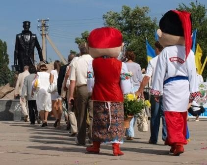 Горловка начала отмечать День рождения с праздничного шествия и митинга, фото-4