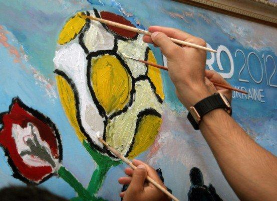 Луческу вместе с футболистами «Шахтера» нарисовал картину (фото), фото-2