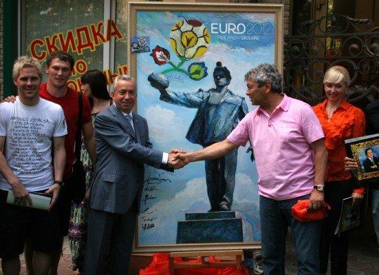 Луческу вместе с футболистами «Шахтера» нарисовал картину (фото), фото-3