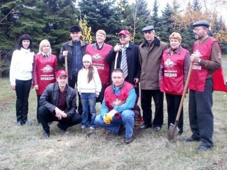 СК «Провідна» подарила горловчанам березовую аллею, фото-4