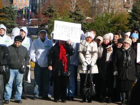 Предприниматели Горловки приняли участие в публичном сожжении проекта Налогового кодекса, фото-3