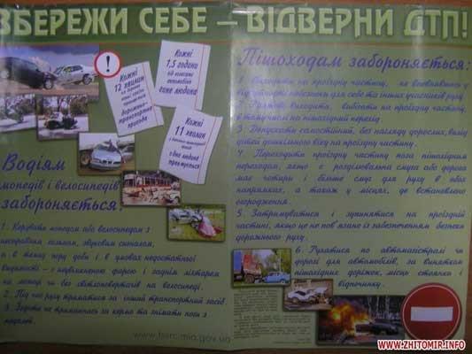 В День памяти жертв ДТП Госавтоинспекция в Житомирской области провела акцию на дорогах, фото-4