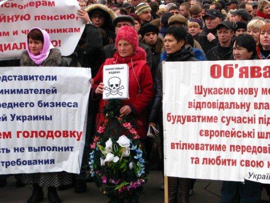 Возле запорожского облсовета митинговали против Налогового Кодекса  (ФОТО), фото-2