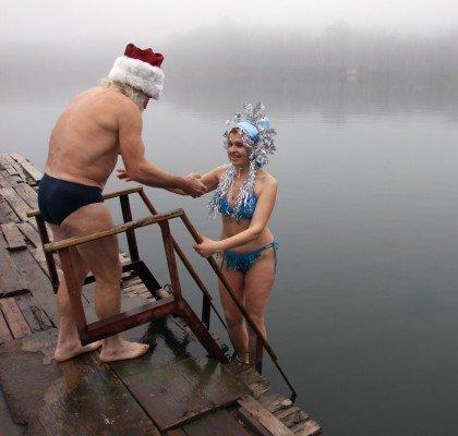 Донецкие «моржи» открыли сезон (фото), фото-1