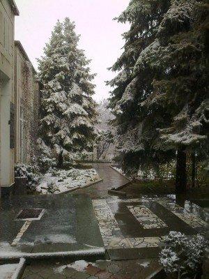 Сегодня в Симферополе выпал первый снег(ФОТОФАКТ), фото-1