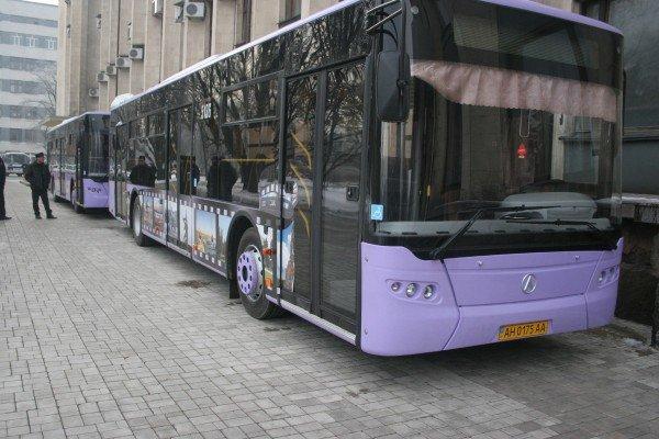 16 новых автобусов с символикой «Евро-2012» вышли на улицы Донецка (фото), фото-4