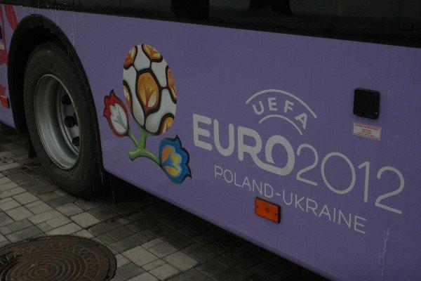 16 новых автобусов с символикой «Евро-2012» вышли на улицы Донецка (фото), фото-1
