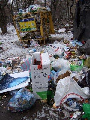 Донецк за новогодние праздники превратился в город миллиона свалок (фото), фото-2