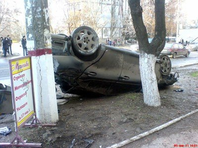 В Симферополе два лихача устроили дуэль на дороге (ФОТО), фото-1