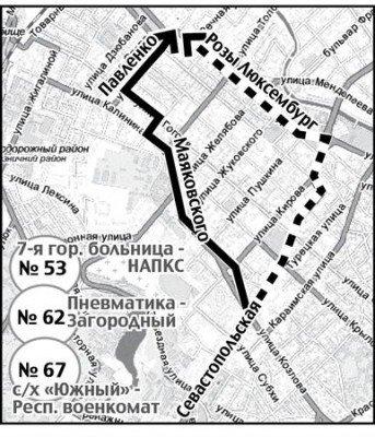 В Симферополе 86 автобусов ходят из пункта А в пункт Б по-новому (СХЕМА), фото-1