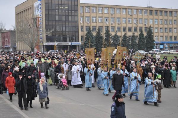 В Николаеве православные в день Крещения вышли на Крестный ход, фото-1