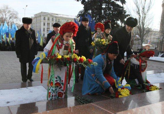 В Донецке отпраздновали день Соборности Украины (фото), фото-1